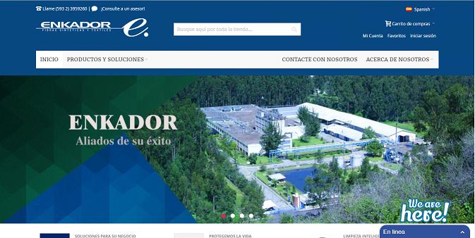 Enkador renueva su sitio web
