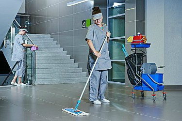 Mopa plana de microfibra limpieza